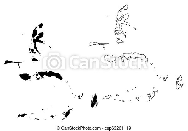 Maluku Islands map - csp63261119