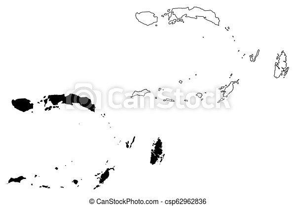 Maluku map - csp62962836