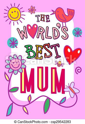 La mejor tarjeta de madre del mundo - csp29542283