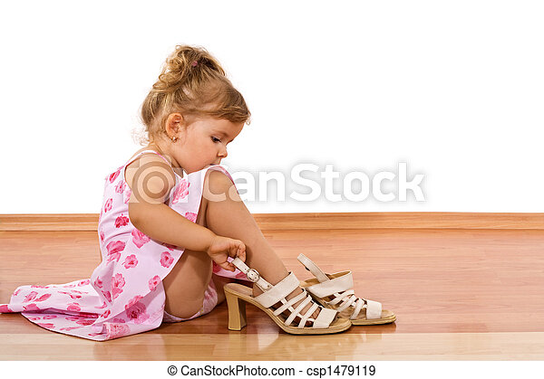 maman, essayer, chaussures - csp1479119