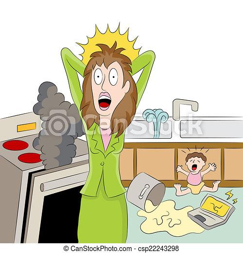 maman travaillante, accentué - csp22243298