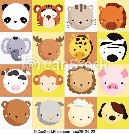 Mammal Icon Vector Set - csp26124122
