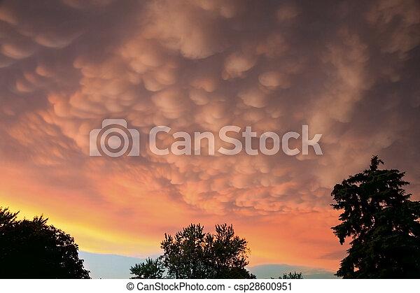 Mammatus Clouds - csp28600951