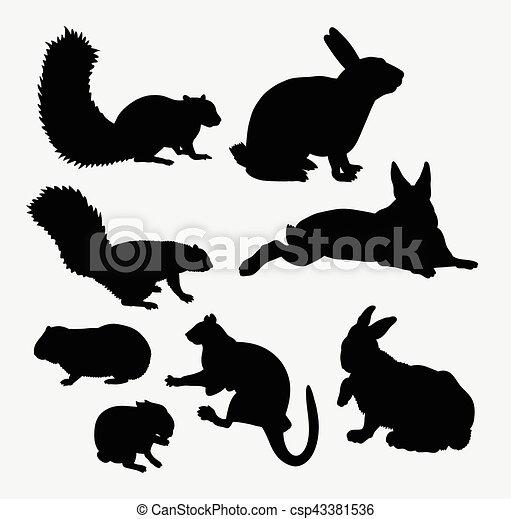 Mammifère Silhouette écureuil Animal Lapin
