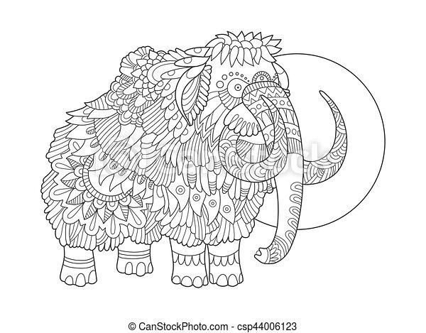Mammoth Colouring | My Free Colouring Pages | 357x450