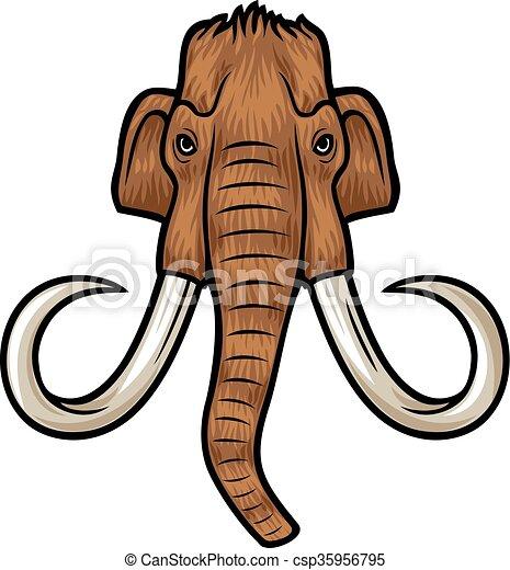 mammoth head - csp35956795