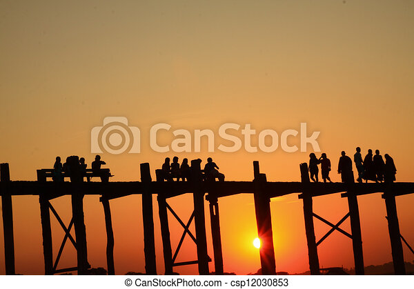 Man Activity in the sunset - csp12030853