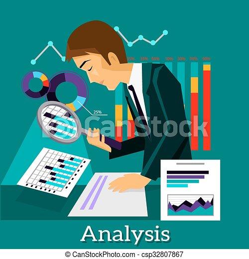 Man analysis infographic and data. Man analysis