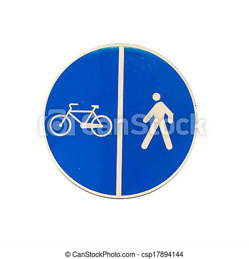 man and bike - csp17894144