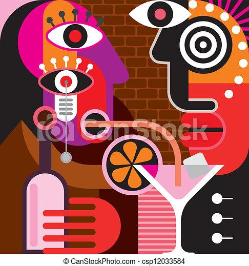 Man and woman at the bar - csp12033584