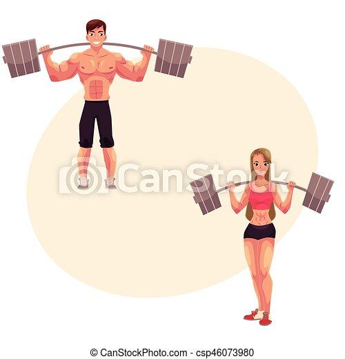 Drawings of women bodybuilders has analogue?