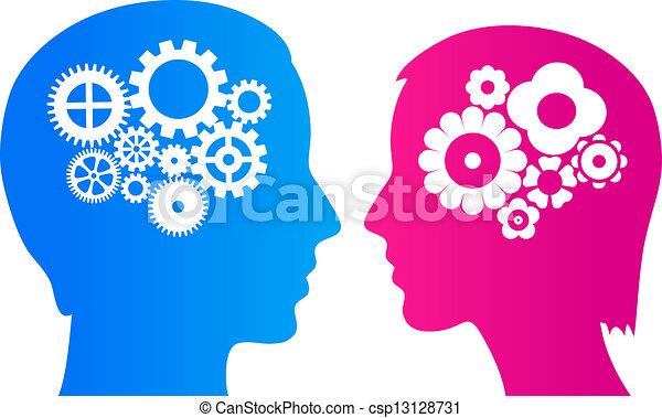 Man and woman brain - csp13128731