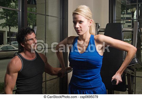 Man And Woman Exercising 11 - csp0695079