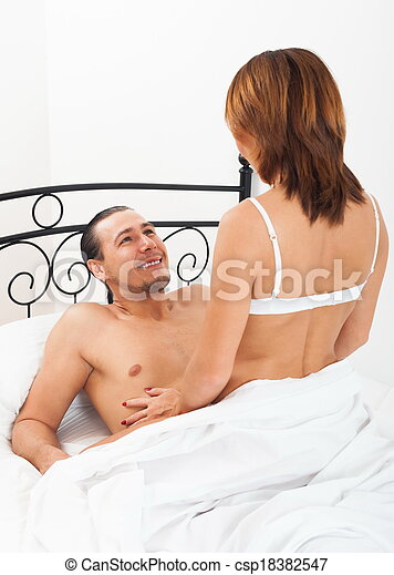 Man and woman in bed - csp18382547