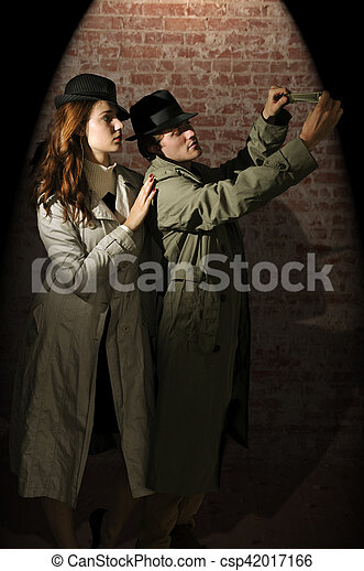 Man and woman spies - csp42017166