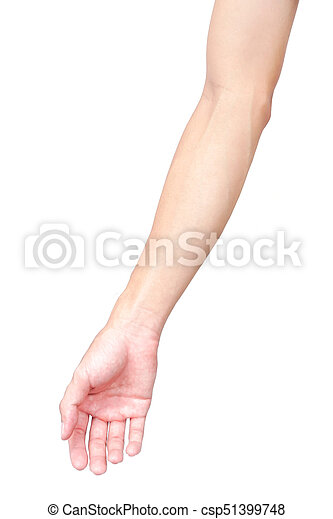 Man arm skin with blood veins on white background, health care and ...