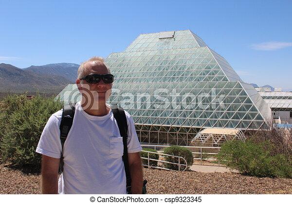 Man at Biosphere 2 - csp9323345