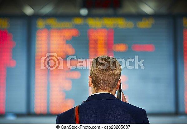 Man at the airport - csp23205687