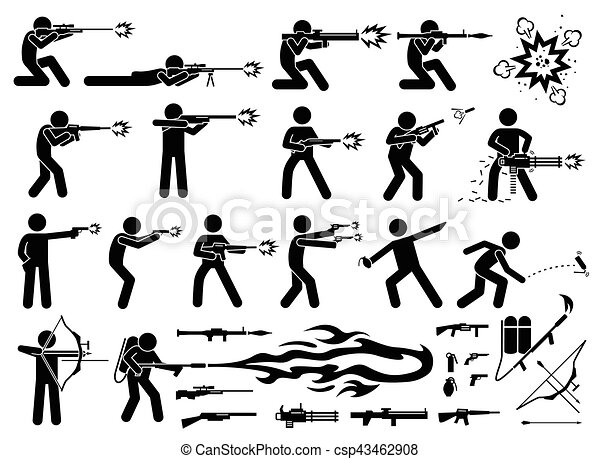 Man Attacks With Various Modern Weapons These Modern