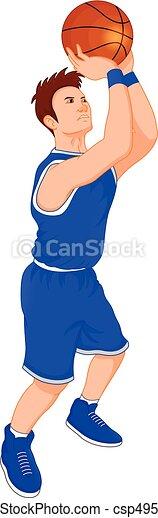 man basketball player - csp49521265