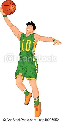 man basketball player - csp49208952