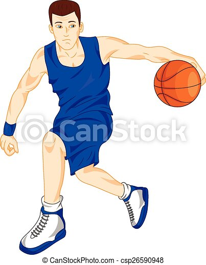 man basketball player - csp26590948