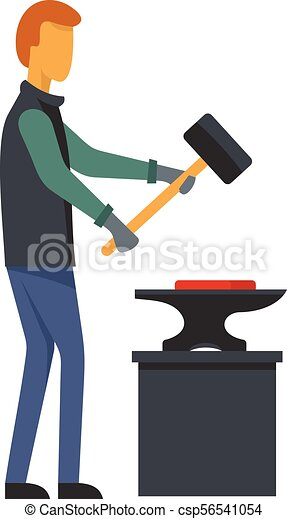 man blacksmith icon flat style man blacksmith icon flat rh canstockphoto com blacksmith hammer clipart blacksmith clipart images