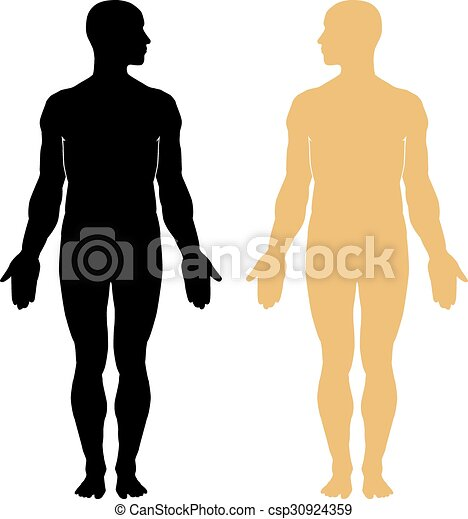 Man body silhouette - csp30924359
