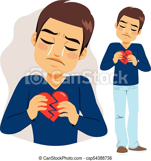 Man Broken Heart - csp54388736