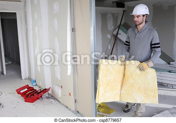 Man building partition - csp8779657