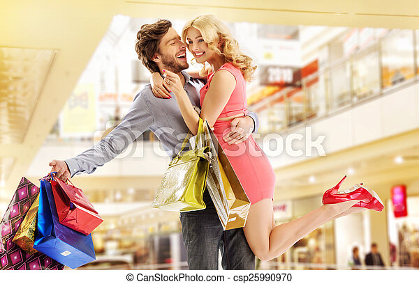 Man buying everything for his wife - csp25990970