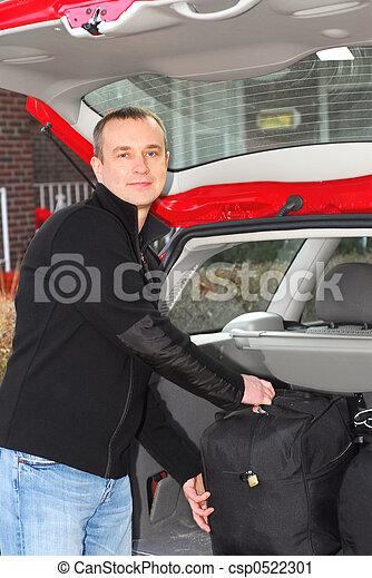 Man car luggage - csp0522301