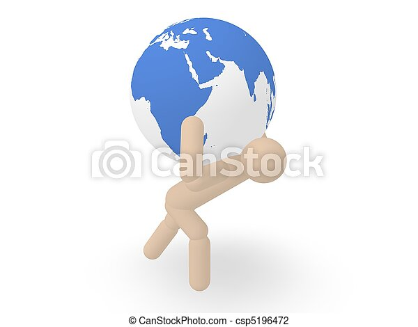 man carrying earth man carrying earth