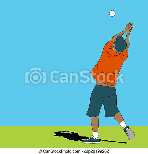 Man Catching Ball