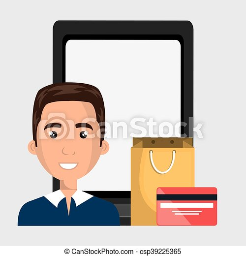 man cellphone credit card vector illustration graphic clip art rh canstockphoto ca credit card clip art images credit card clip art free