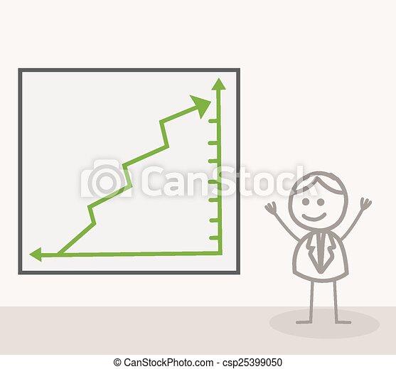 Man Chart Up - csp25399050