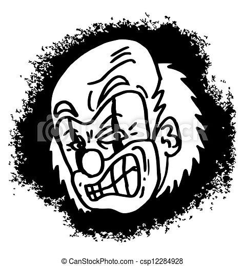 Man clown cartoon - csp12284928