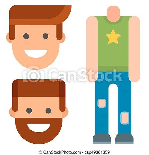 man constructor body avatar creator vector cartoon character rh canstockphoto com boy parts of the body clipart boy parts of the body clipart