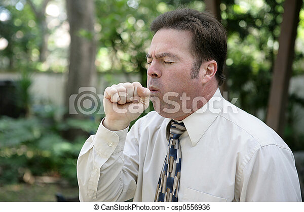 Man Coughing - csp0556936