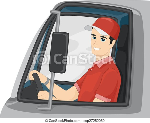 Man Delivery Truck Driver - csp27252050