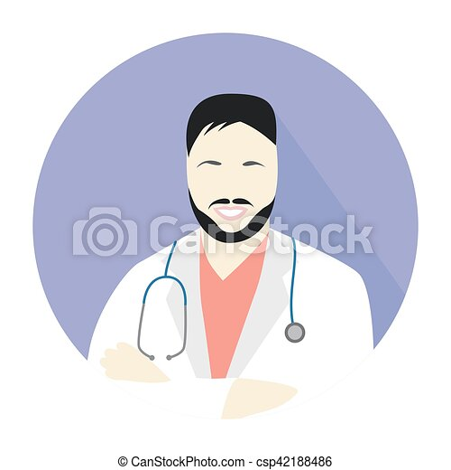 man doctor icon - csp42188486