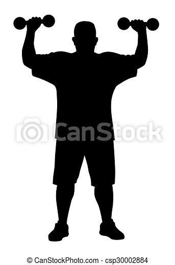 Man doing exercises - csp30002884