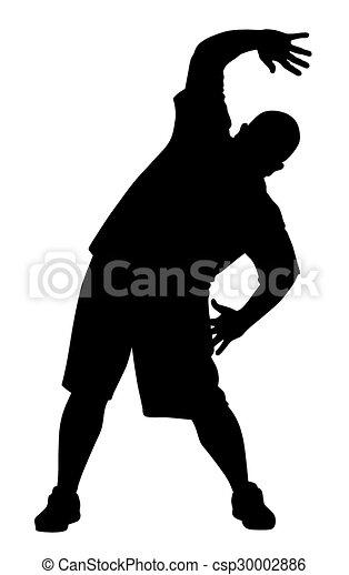 Man doing exercises - csp30002886