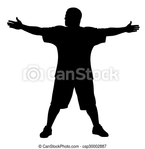 Man doing exercises - csp30002887