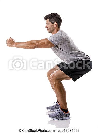 Man doing exercises - csp17931052