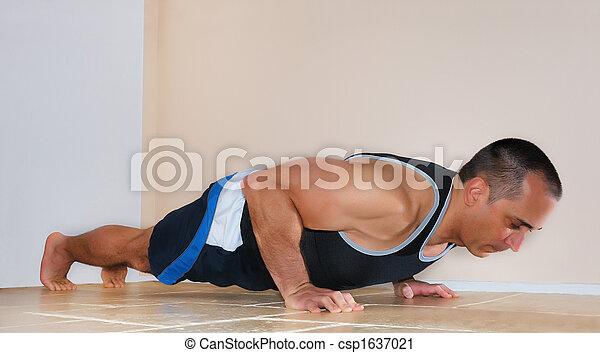 Man Doing Push Ups - csp1637021