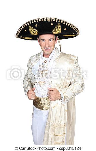 Man dress in bullfighter costume - csp8815124