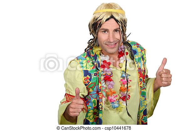 Man dressed as a hippy - csp10441678