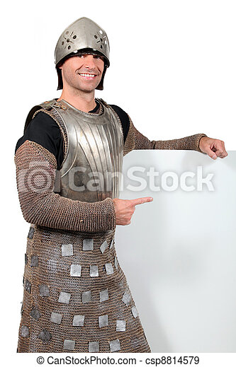 man dressed as a knight - csp8814579