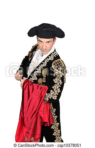 Man dressed as a matador - csp10378051